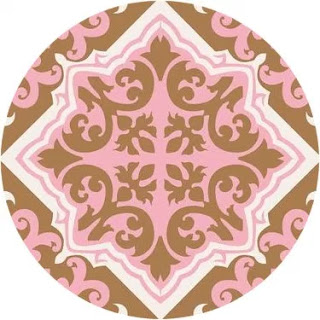 Retro Pink and Brown: Free Printable Cupcake Wrappers and Toppers.