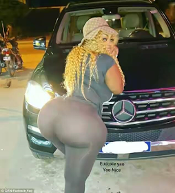 Woman claims to have biggest bum in west Africa