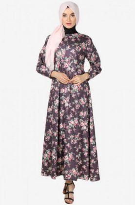 Gamis kombinasi batik untuk remaja wanita modis