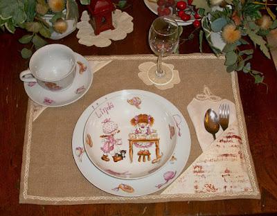 piatti per bambini, porcelain paintings