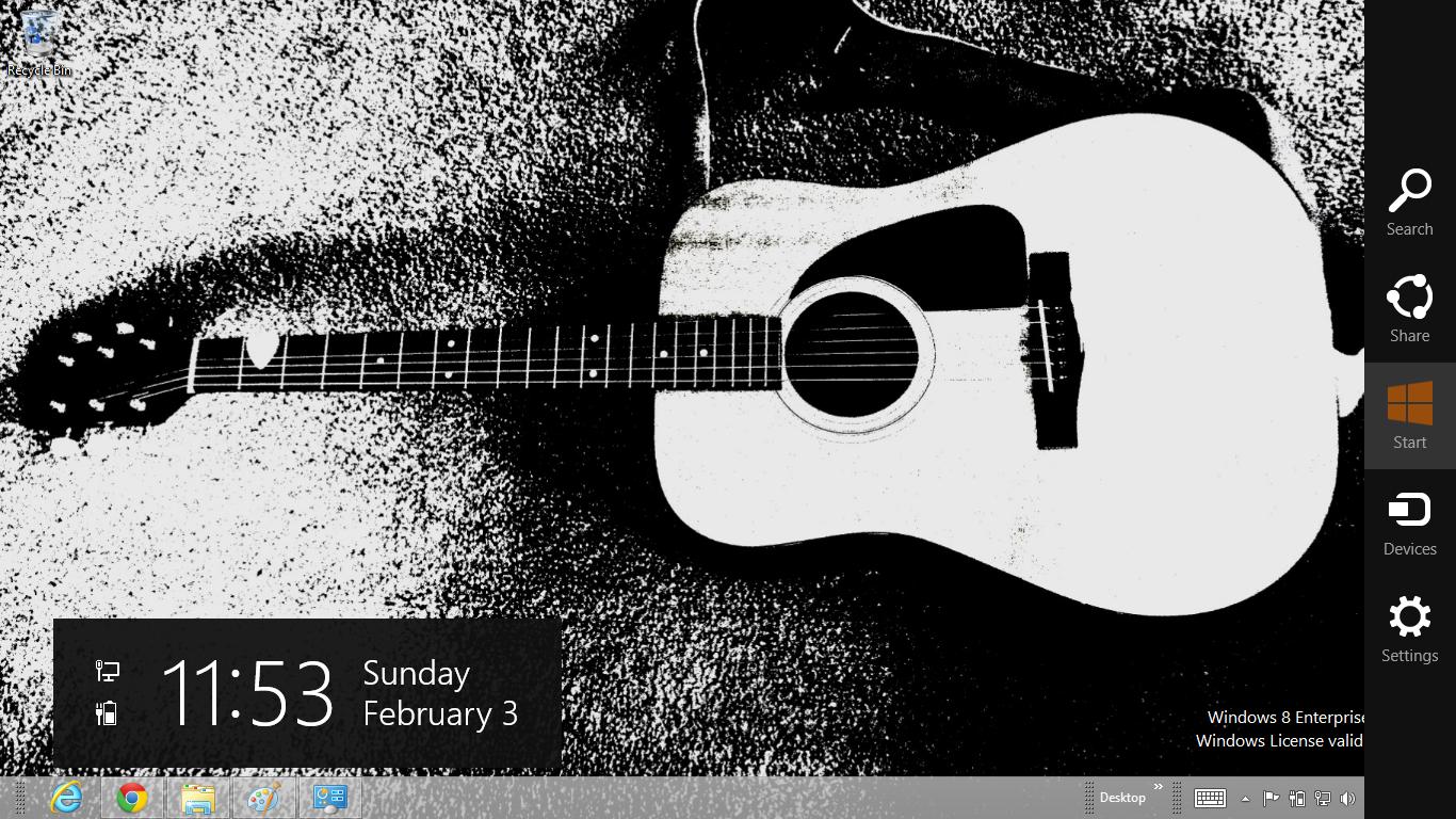Download Gratis Tema Windows 7: Acoustic Guitar Theme For