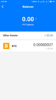 Pivot App BTC payment proof