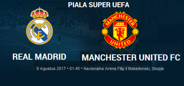 Prediksi Real Madrid vs Manchester United - UEFA Super Cup 2017