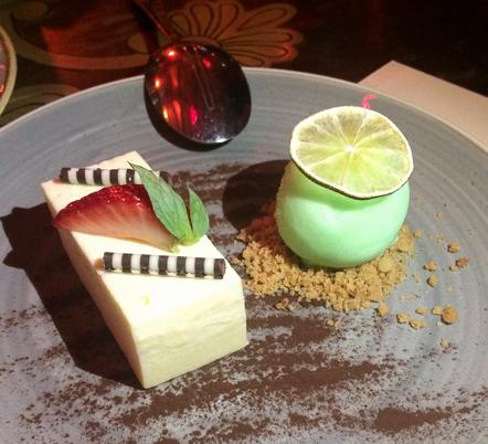Dessert lemongrass panna cotta