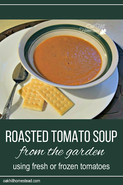 Delicious roasted tomato soup that tastes like your summer garden, no matter what the weather is outside.