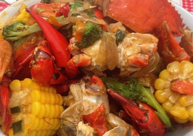 Cara masak kepiting saus padang pedas