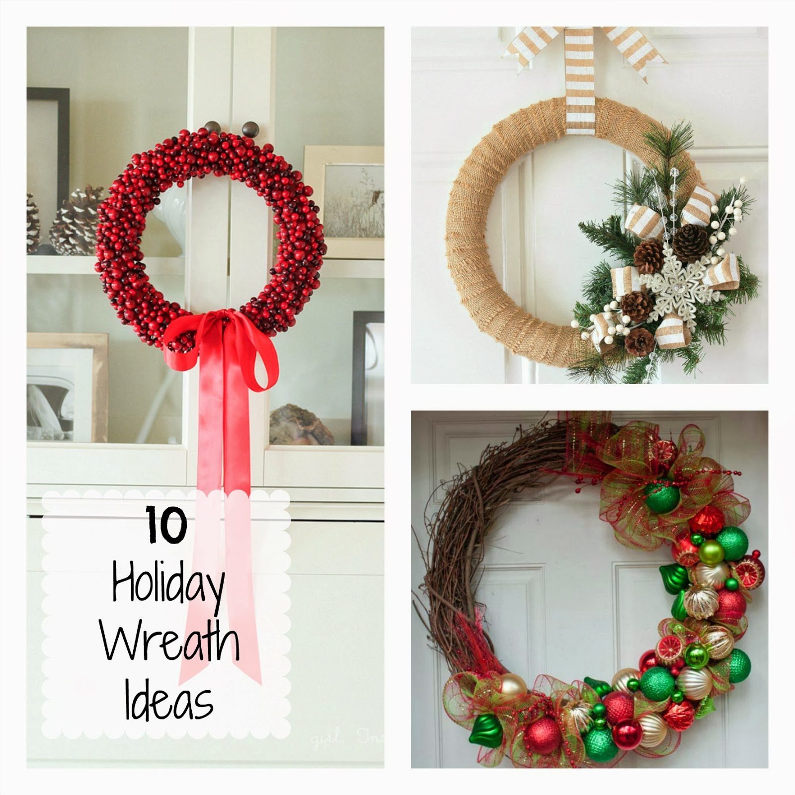 10 DIY Holiday Wreath Ideas | Fun Home Things