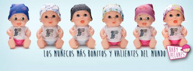 baby pelones, juegaterapia, juguetes, muñecos, lucha contra el cancer, cancer infantil, solidaridad, juguetes solidarios