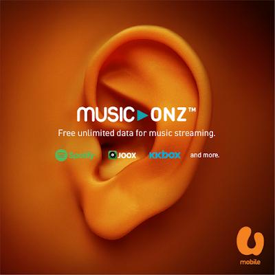 U Mobile MusicOnz Free Unlimited Music Streaming Radio