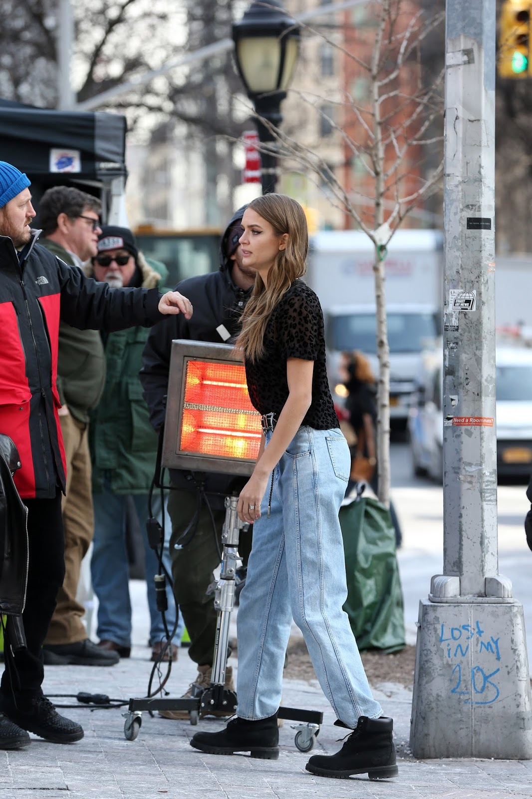Josephine Skriver films a Maybelline commercial in New York City - 02/02/2019