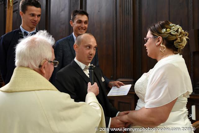 photo échange des voeux des mariés