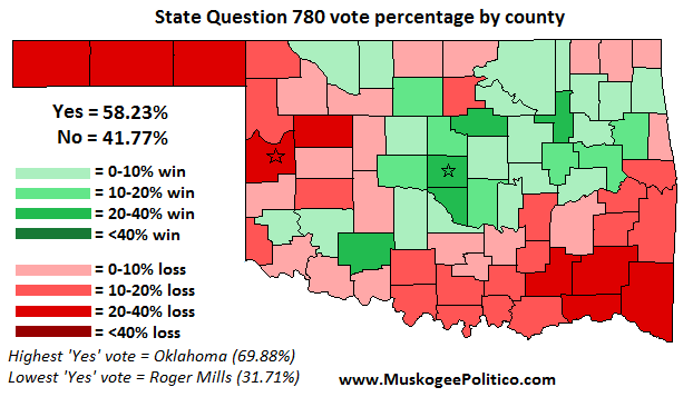 Election Results Map: State Questions 780 & 781 ... on