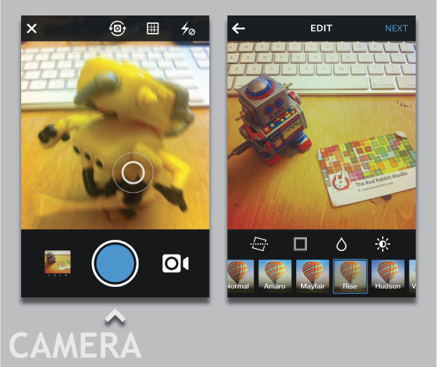 Camera, iPhone, Social Media