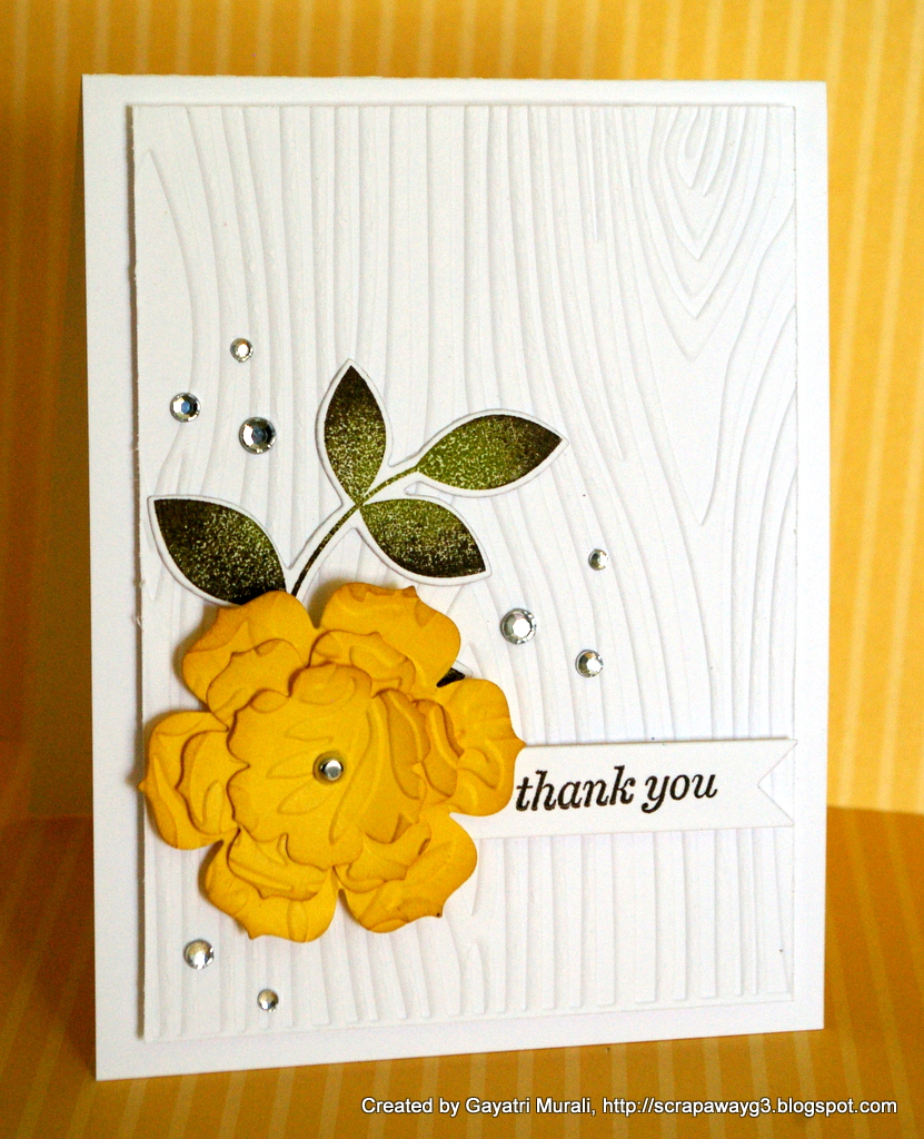 Handmade by G3: CAS thank you cards