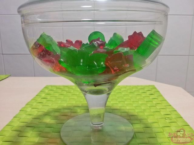 Balas de gelatina para o Natal