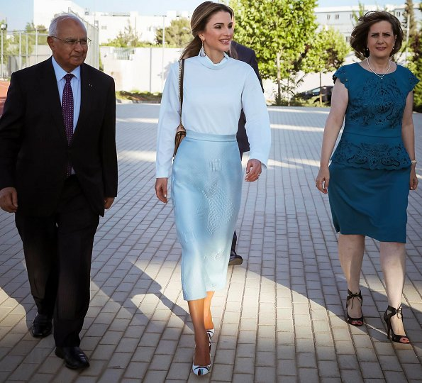Queen Rania attended the 2017 graduation ceremony at the Amman International Academy (IAA) in Amman, Jordan