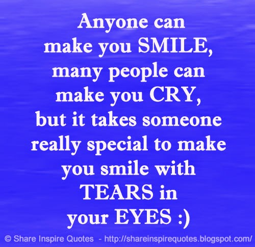 Anyone Can Make You SMILE, Many People Can Make You CRY