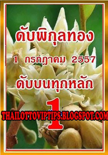 Thai Lotto 3up Cut Digit Tip Paper 01-07-2014