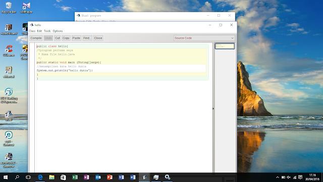 Tutorial Membuat Program Java Blue-J Sederhana Untuk Pemula.