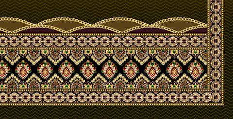 Textile Digital Print Border Design 2301