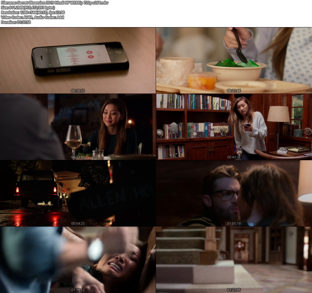 Secret Obsession 2019 HIndi NF WEBRip 720p x264 | 480p 300MB | 100MB HEVC Screenshot