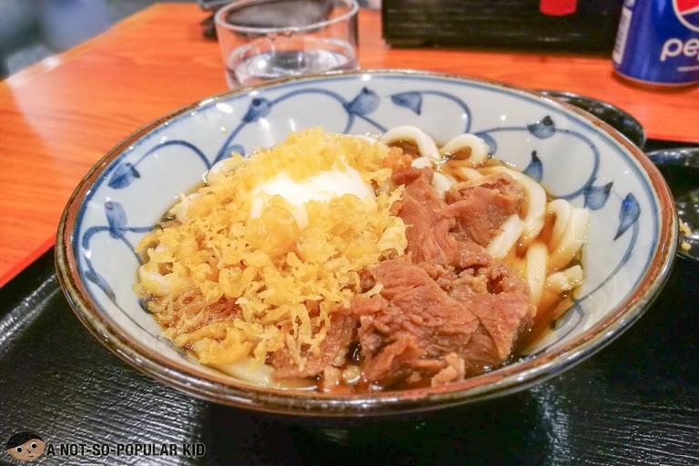 Beef Sukiyaki Udon of Tsurumaru Philippines