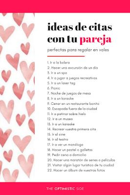 ideas de citas originales pareja - idea de regalo cupones vales de amor san valentín