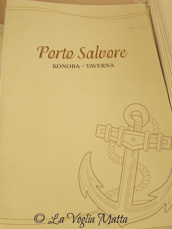 """Taverna Porto "" Porto Salvore Croazia menù"