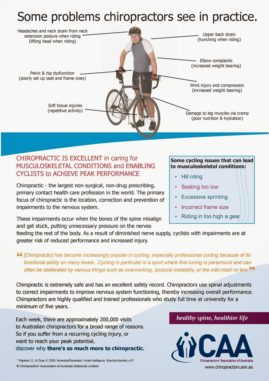 http://www.chiropractors.asn.au/images/stories/Files/Chiropractic%20Fact%20Sheets/Fact%20Sheet%20-%20Cycling.pdf