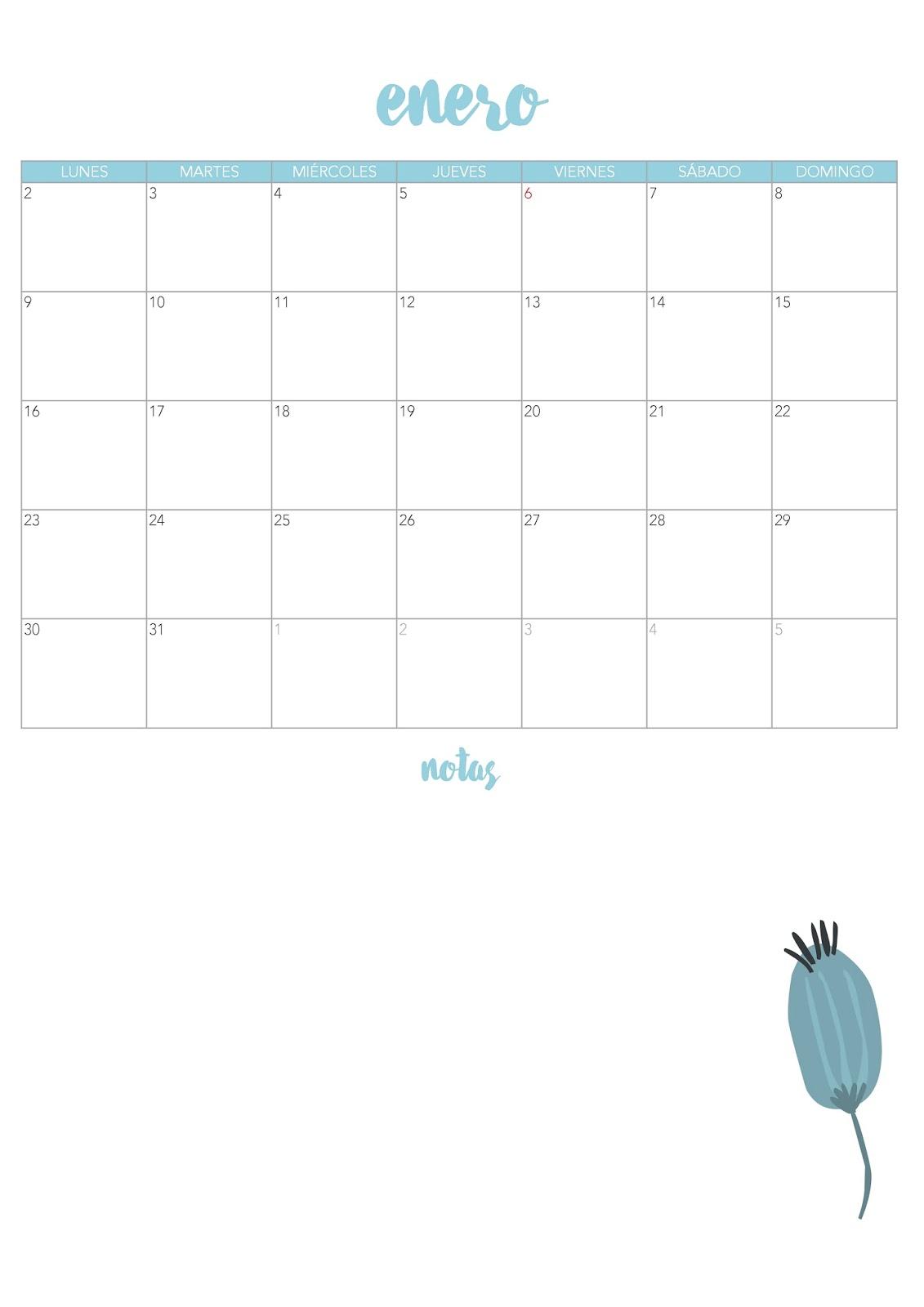 Calendario Para Escribir.My Sweet Things Descargable Marchando Un Calendario Para El 2017
