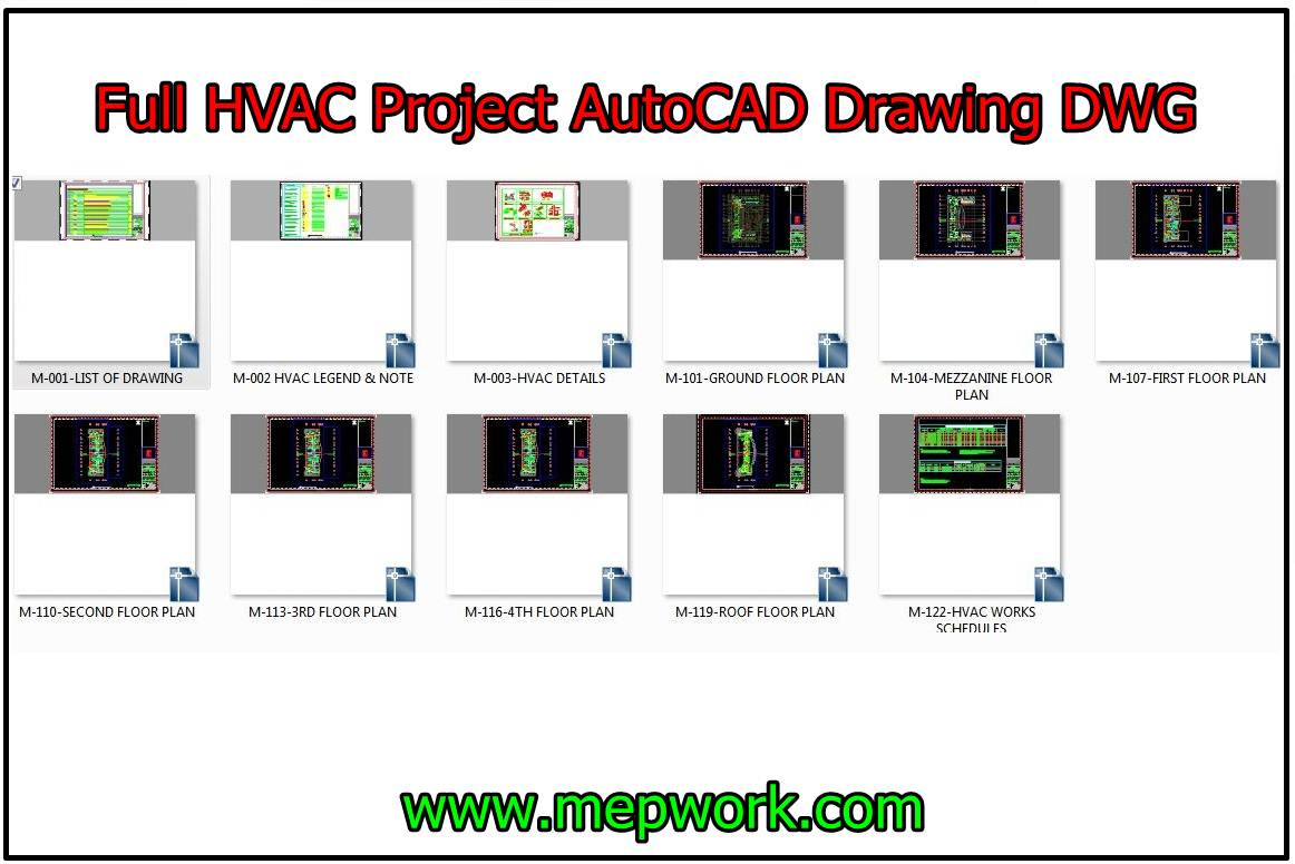 hvac autocad drawings dwg for commercial building project. Black Bedroom Furniture Sets. Home Design Ideas