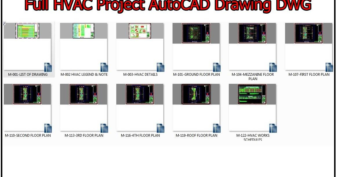 HVAC AutoCAD Drawings DWG for Commercial Building Project | Hvac Drawing Dwg Download |  | MEP WORK