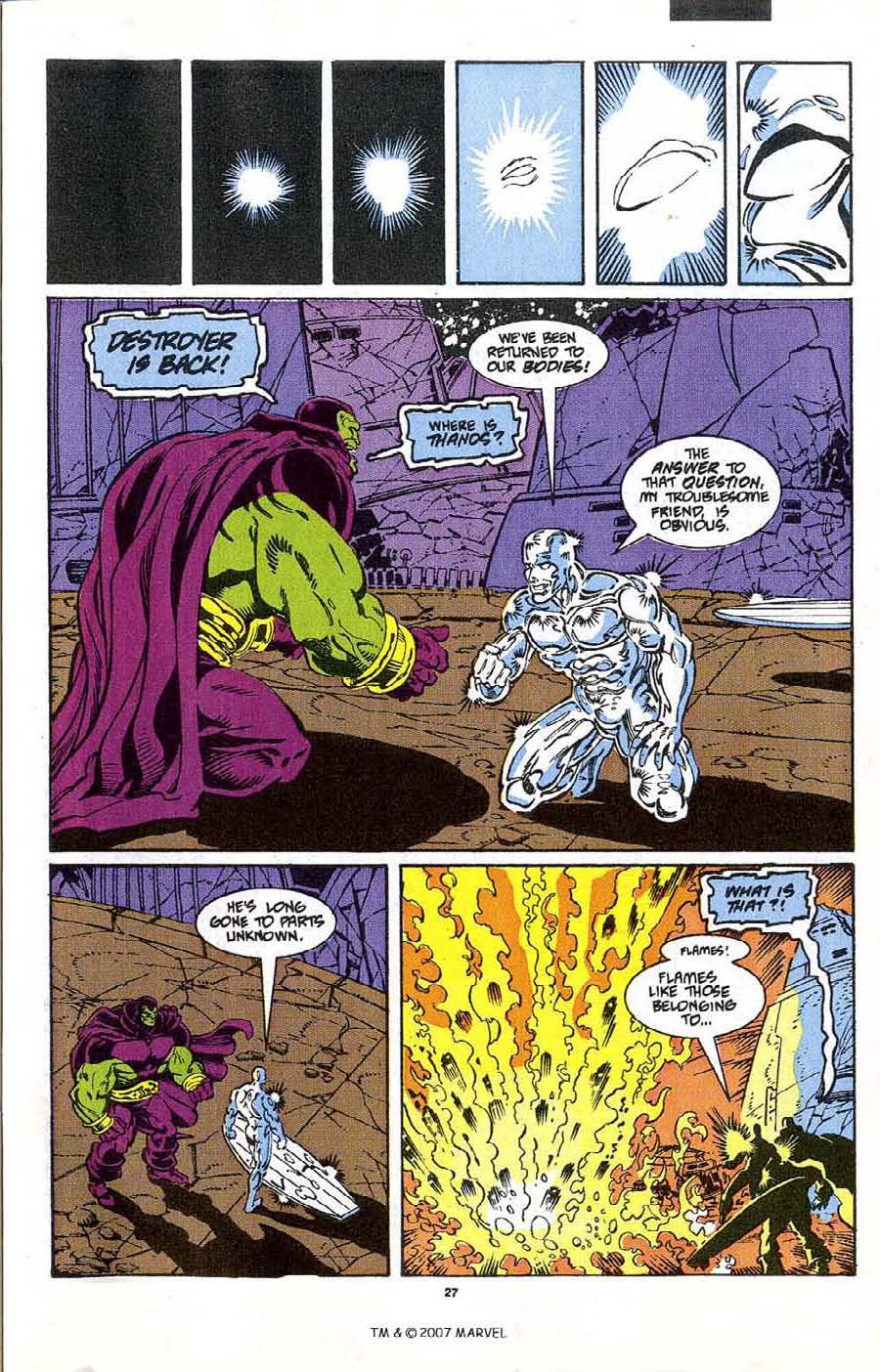 Read online Silver Surfer (1987) comic -  Issue #47 - 29