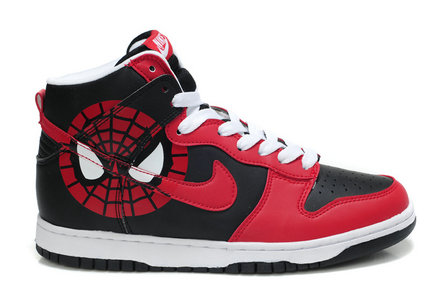 info for f0a51 24580 Nike SB Dunk Cartoon Shoes : Red Black Nike SB Dunk High Shoes For ...
