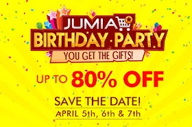Jumia Birthday Anniversary Deals Up to 80% Off