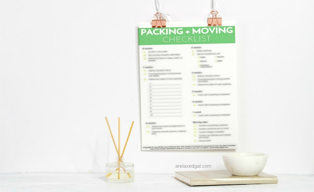 Free moving and packing checklist | arelaxedgal.com