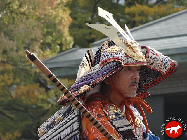 samouraï hideyoshi pendant le jidai matsuri de Kyoto