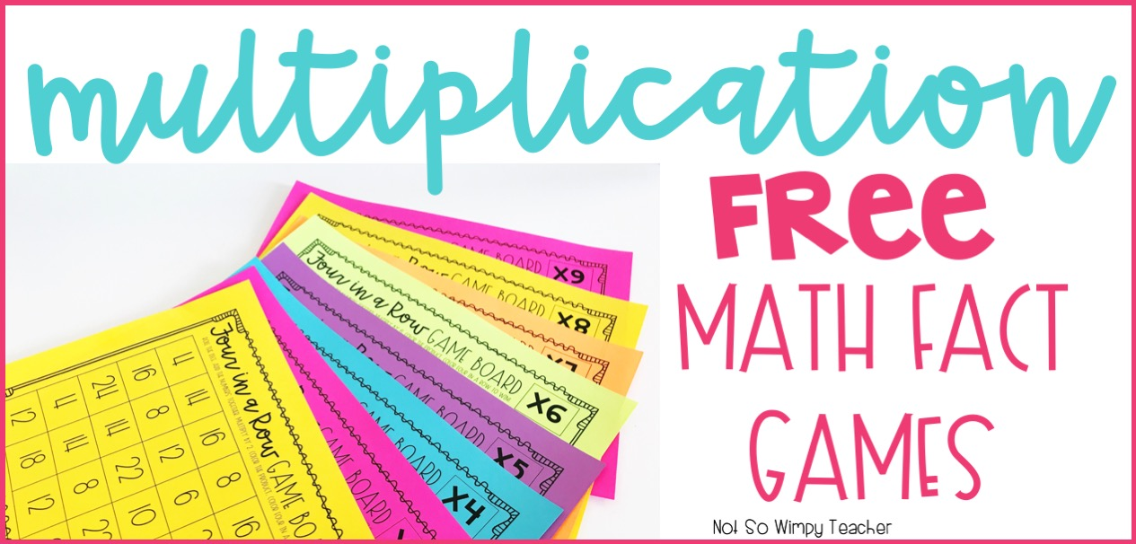 Diary of a Not So Wimpy Teacher: FREE Multiplication Math Facts Games