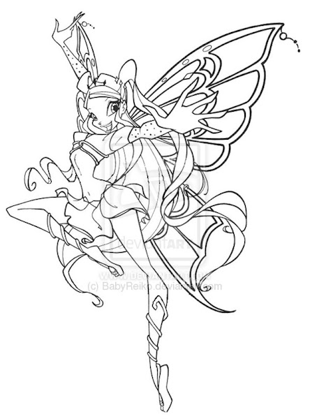 Winx Believix Da Colorare.Winx Club Bloom Bloomix Coloring Pages Colorings Net