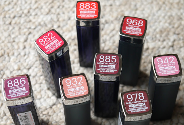 MAYBELLINE COLOR SENSATIONAL LIPSTICK RANGE