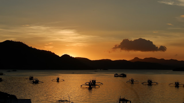 sunset view coron palawan