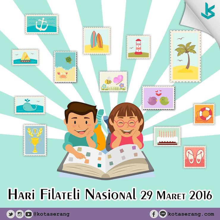 Gambar Vector - Hari Filateli Nasional 29 Maret 2016