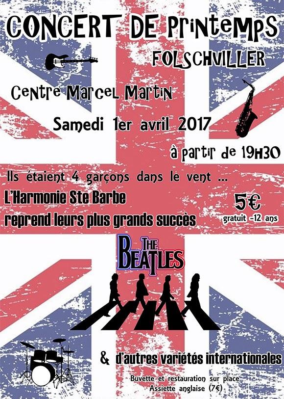 Hommage aux Beatles avec l'Harmonie Sainte-Barbe de Folschviller