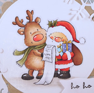 Heather's Hobbie Haven - Santa and Rudolph Card Kit