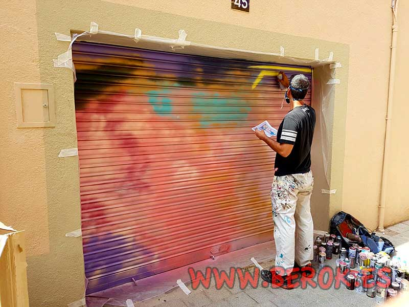 pintado de fondo de persiana