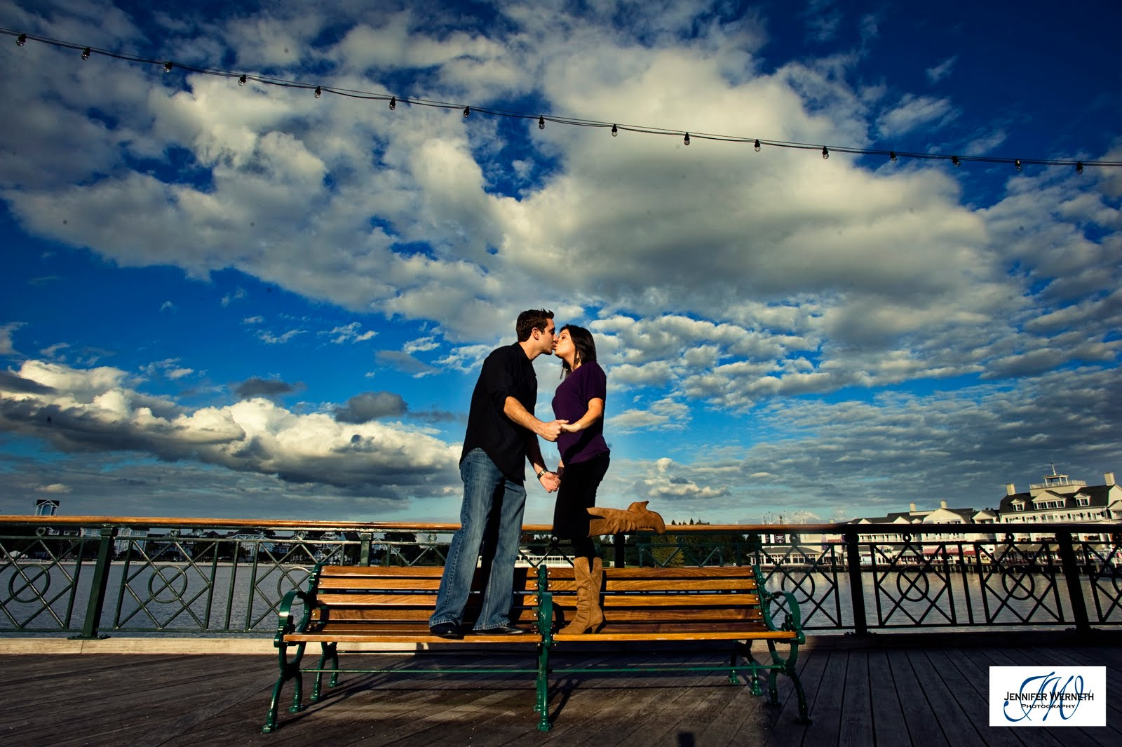 Engagement Photography at Disney's Boardwalk Resort at Disney World