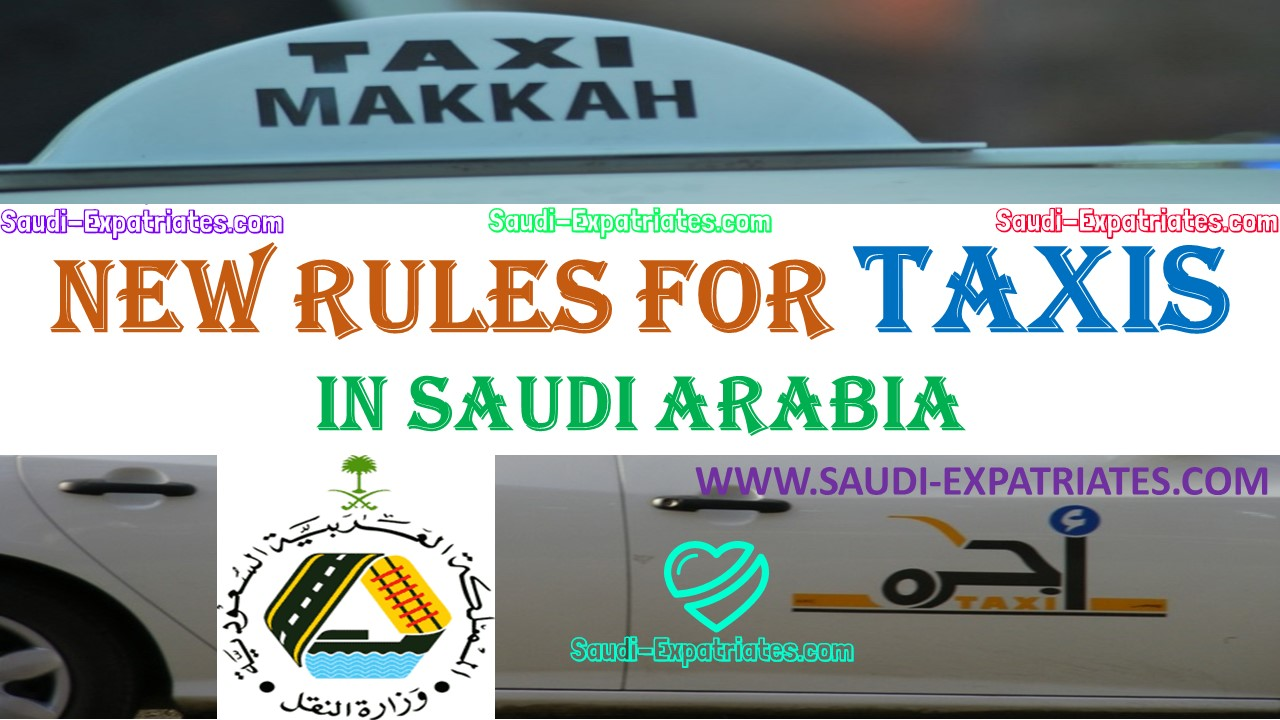 New rules on taxis in ksa