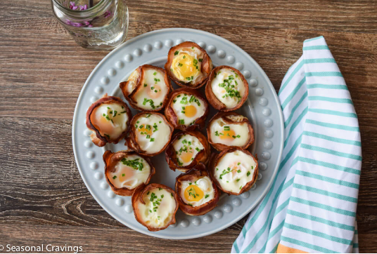 BACON AND EGG CUPS #diet #baacon
