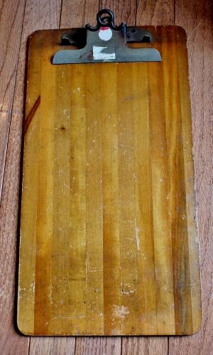 vintage wooden clip board