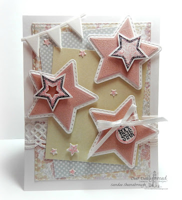 Our Daily Bread Designs Stamp Set: Superstar, Our Daily Bread Designs Custom Dies: Double Stitched Stars, Sparkling Stars, Beautiful Borders, Double Stitched Rectangles, Mini Tags, Our Daily Bread Designs Paper Collections: Pastel Paper Pack 2016, Easter Card Collection 2016